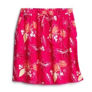 SKIES ARE BLUE Crochet Trim Cotton Blend Skirt P/S